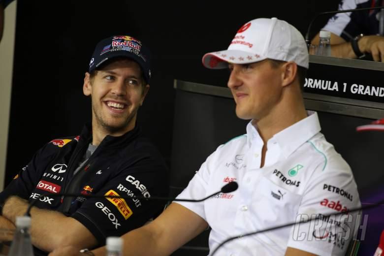,  - 22.11.2012- Press conference, Sebastian Vettel (GER) Red Bull Racing RB8, Michael Schumacher (GER) M