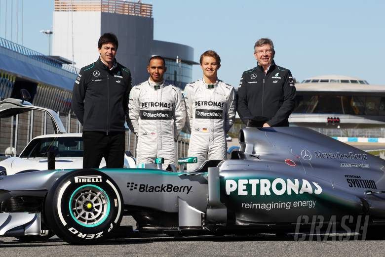 , , The new Mercedes AMG F1 W04 is unveiled (L to R): Toto Wolff (GER) Mercedes AMG F1 Shareholder and E