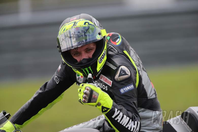 Thumbs-up from Rossi, Sepang 1 MotoGP test, February 2013