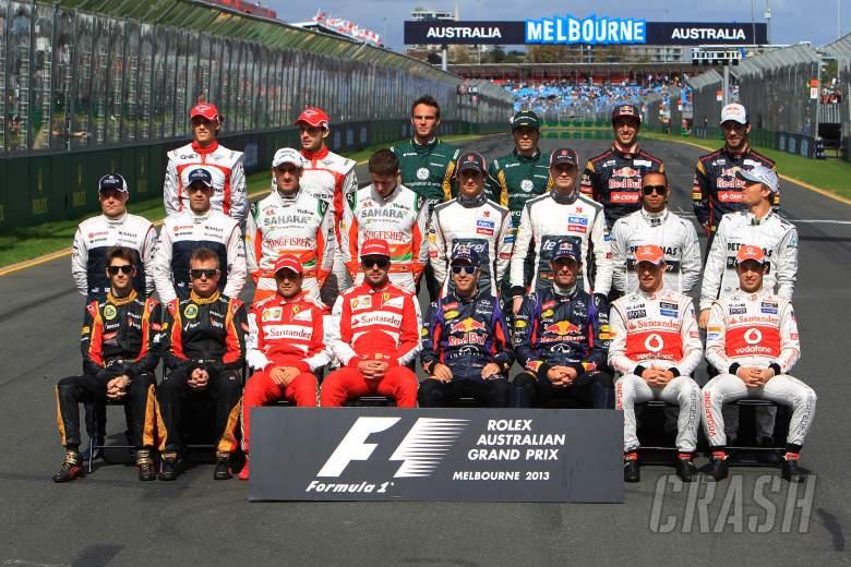 , - 17.03.2013- Drivers F1 2013 photograph