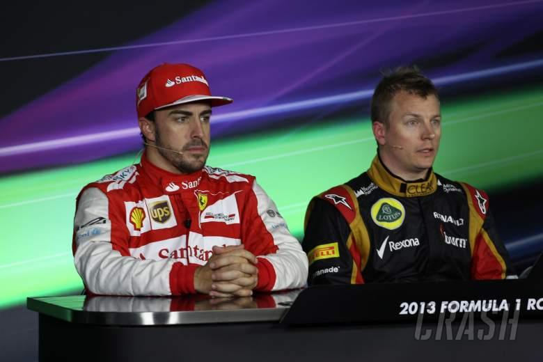 17.03.2013- Race, Press conference, Fernando Alonso (ESP) Scuderia Ferrari F138 and Kimi Raikkonen (