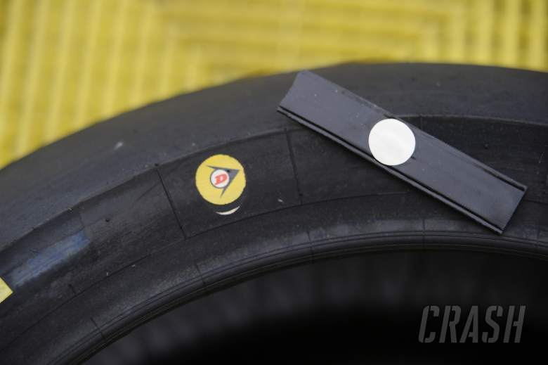 Dunlop electronic tag in tyres, Jerez MotoGP Test March 2013