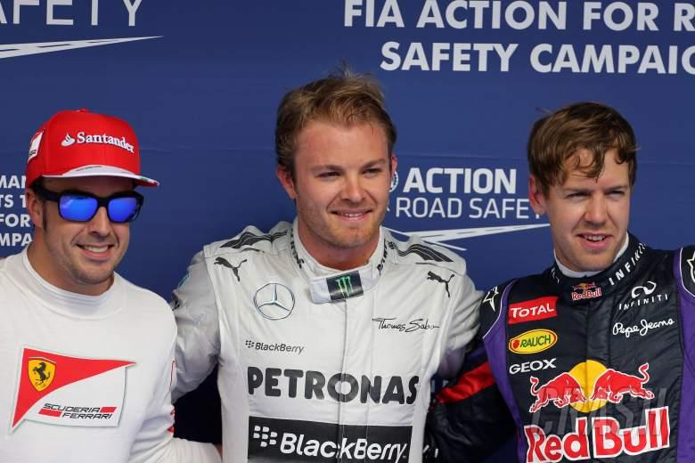 20.04.2012- Qualifying, 3rd position Fernando Alonso (ESP) Scuderia Ferrari F138, Nico Rosberg (GER)