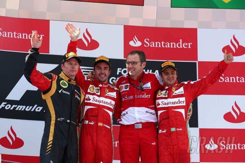 12.05.2013-  Race, Fernando Alonso (ESP) Scuderia Ferrari F138 race winner, 2nd position Kimi Raikko