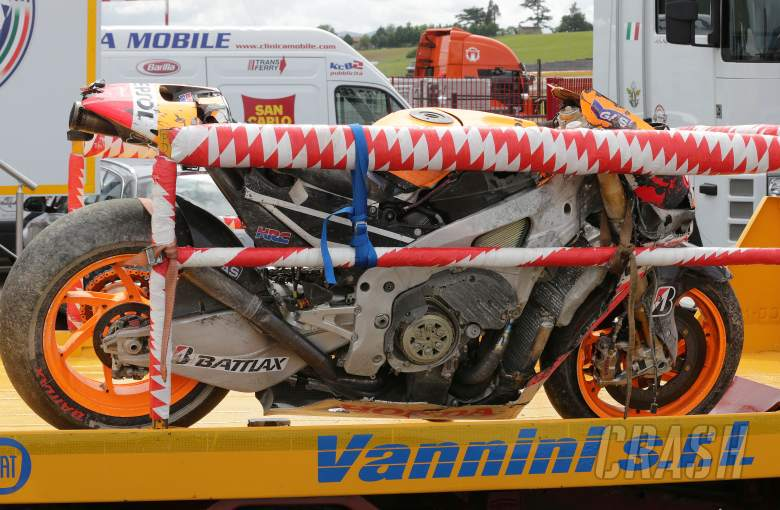 Marquez' crashed bike, Italian MotoGP 2013