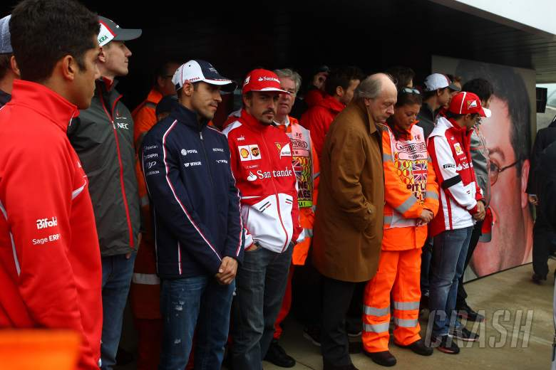 ,  - 28.06.2013- One minutes silence in memory of the Montreal marshal Mark Robinson