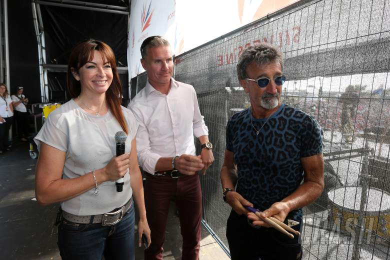 , , Suzi Perry, David Coulthard and Eddie Jordan - BBC presenting team