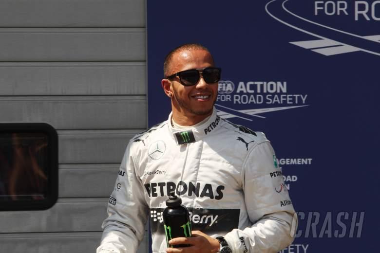 06.07.2013- Qualifying, Lewis Hamilton (GBR) Mercedes AMG F1 W04 pole position