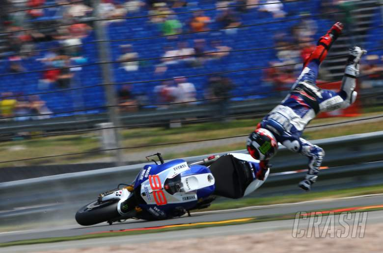 Lorenzo crash, German MotoGP 2013