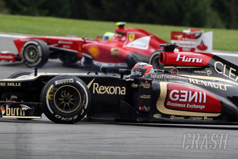 25.08.2013-  Race, Kimi Raikkonen (FIN) Lotus F1 Team E21 retires from the race