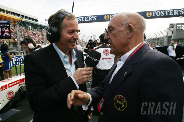 Martin Brundle (GBR) ITV F1 Commentator with Sir Stirling Moss (GBR) Australian Formula One Grand Pr