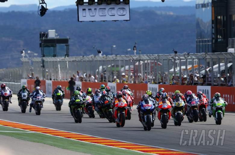 Lorenzo leads start, Aragon MotoGP 2013