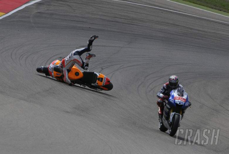 ,  - Pedrosa crash, Aragon MotoGP 2013