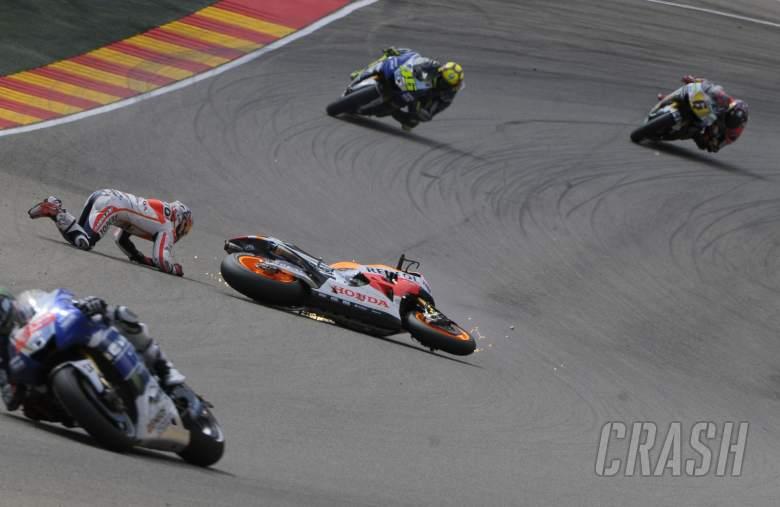 ,  - Pedrosa crash, Aragon MotoGP 2013