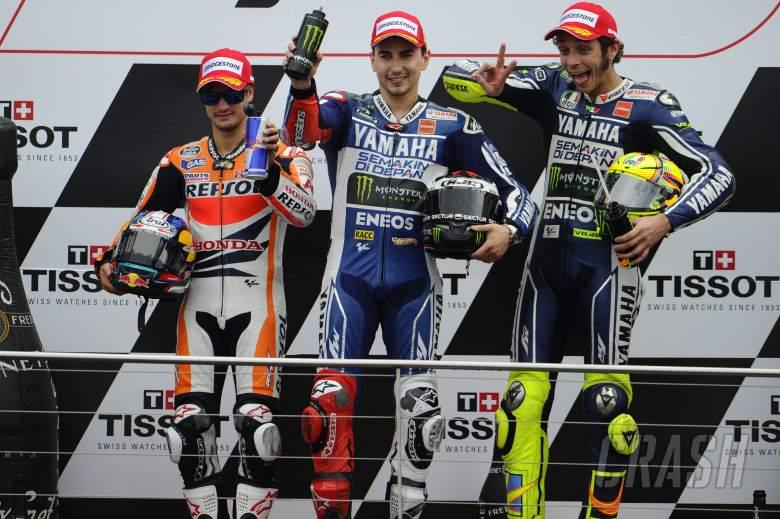 Pedrosa, Lorenzo, Rossi, Australian MotoGP Race 2013