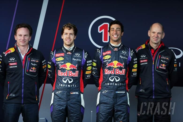 (L to R): Christian Horner (GBR) Red Bull Racing Team Principal; Sebastian Vettel (GER) Red Bull Rac
