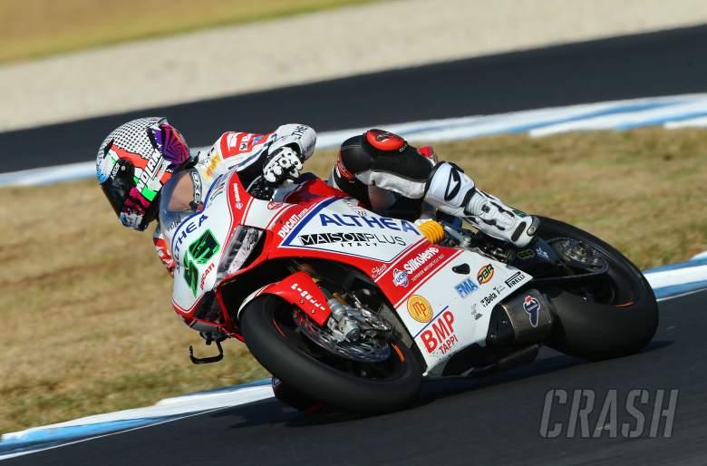 ,  - Canepa, Australian WSBK test and race, 2014