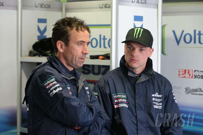 Lez Pearson and Alex lowes, Australian WSBK test and race, 2014