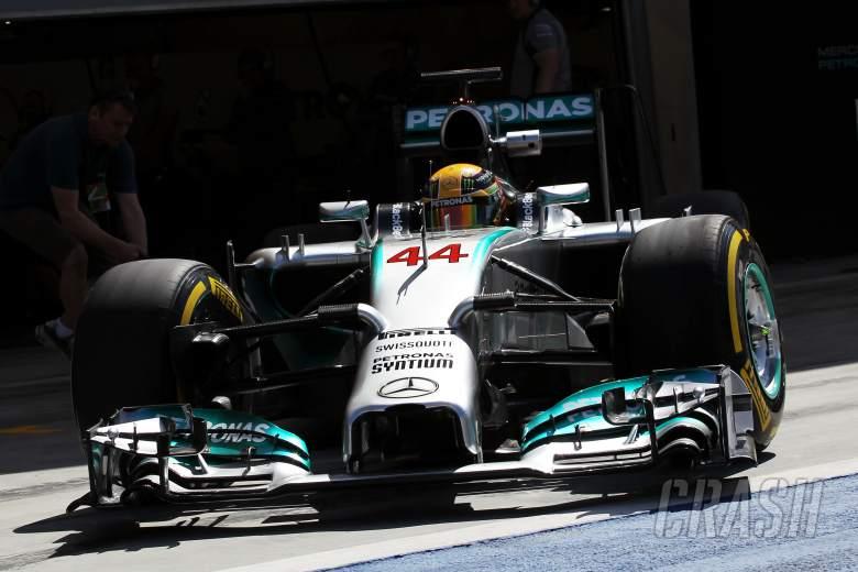 Lewis Hamilton (GBR) Mercedes AMG F1 W05 leaves the pits.21.02.2014. Formula One Testing, Bahrain T