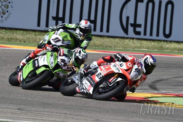 : Badovini, Aragon WSBK Race 1 2014