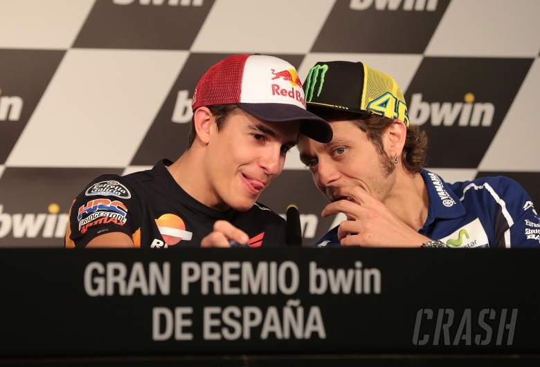 Marquez and Rossi, Spanish MotoGP 2014