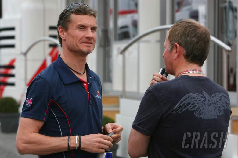 , , 13.05.2006 Granollers, Spain, David Coulthard (GBR), Red Bull Racing & Martin Brundle (GBR) ITV-F1 C