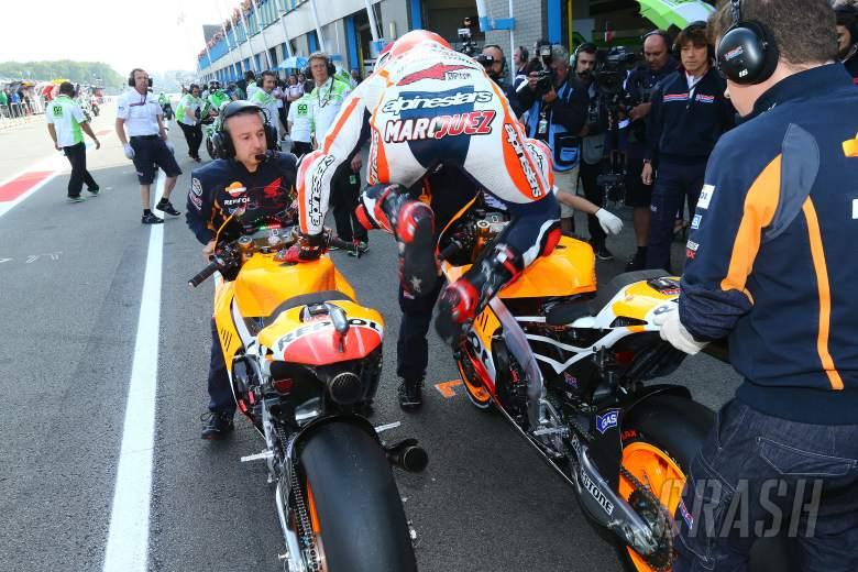 PICS: MotoGP bike swap - Marquez style!