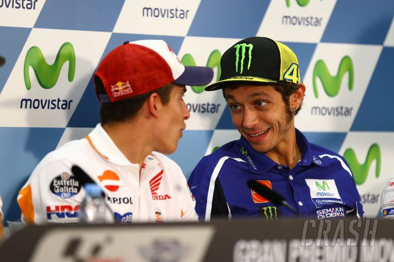 Rossi, Marquez recall ranch race