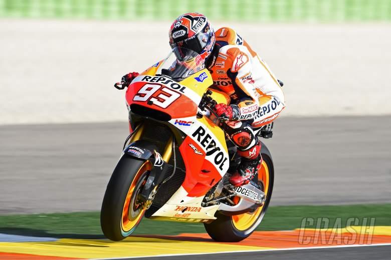 Marquez Friday double, Suzuki ends in smoke