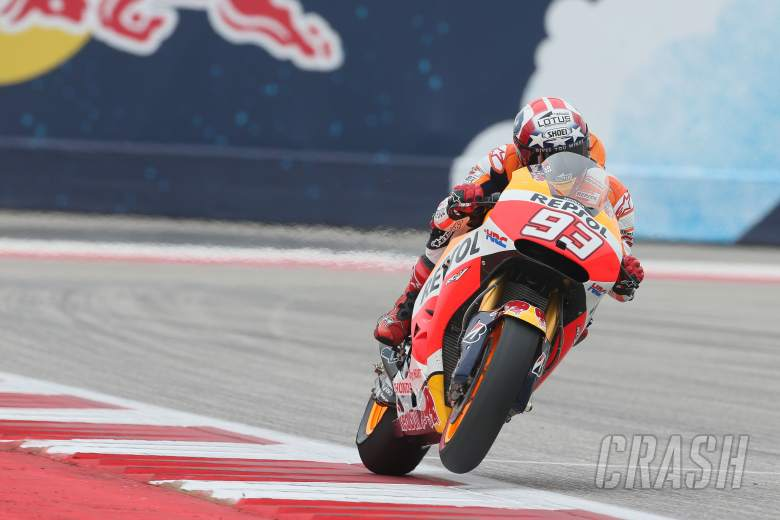 Marquez from Crutchlow in COTA warm-up