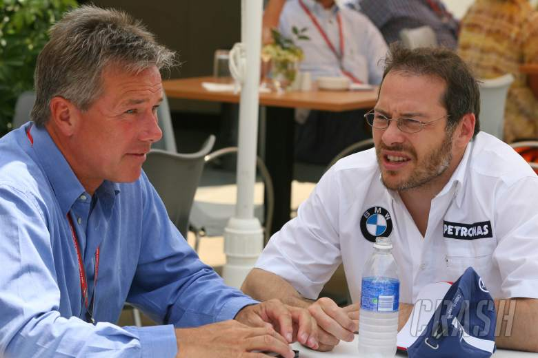 29.06.2006 Indianapolis, USA, Craig Pollock (GBR, Manager of Jacques Villeneuve) with Jacques Villen