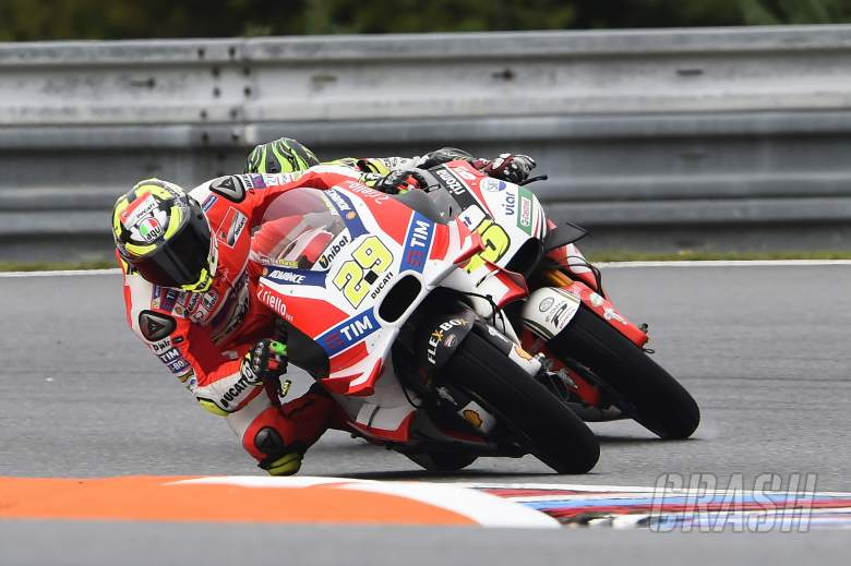 Iannone disappointed as front tyre wilts at Brno