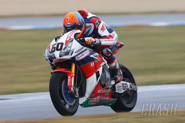 van der Mark rescues vital points on wrecked Honda