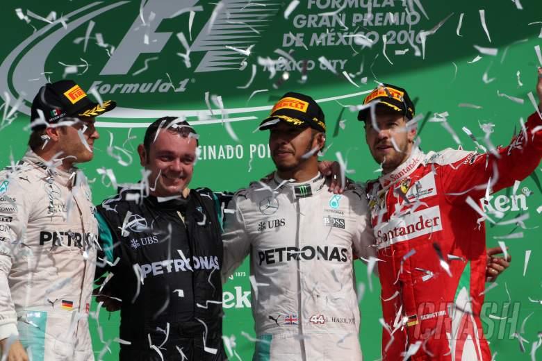 Hamilton defeats Rosberg as Vettel, Verstappen feud