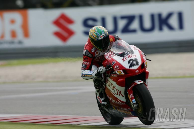 troy bayliss ducati xerox team world superbikes race 2 assen sunday 03/09/06