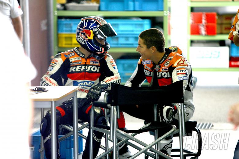 ,  - Pedrosa and Hayden, Motegi MotoGP test, 2006