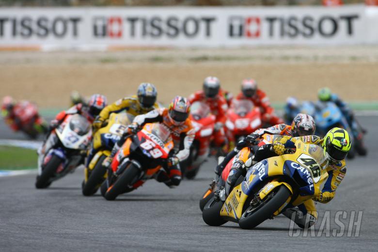 Rossi leads, Portuguese MotoGP Race 2006