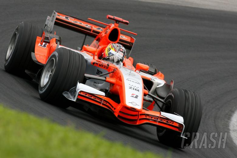 21.10.2006 Sao Paulo, Brazil, Tiago Monteiro (POR), Spyker MF1 Racing, Toyota M16 - Formula 1 World