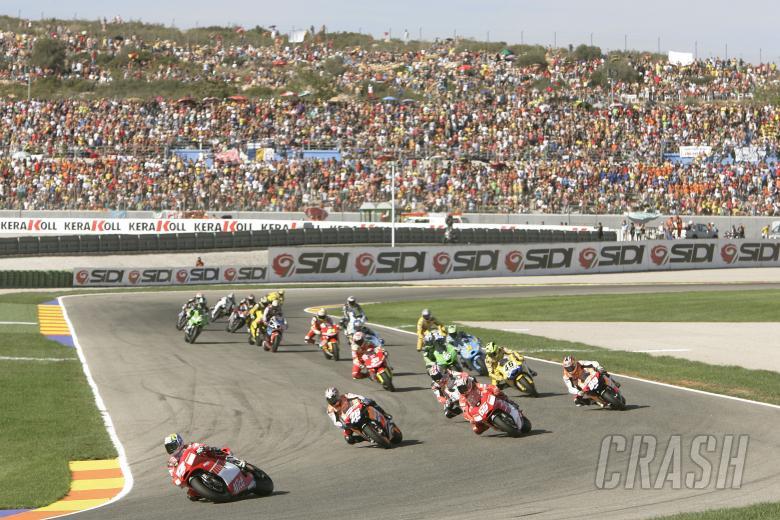 Bayliss leads start, Valencia MotoGP Race, 2006