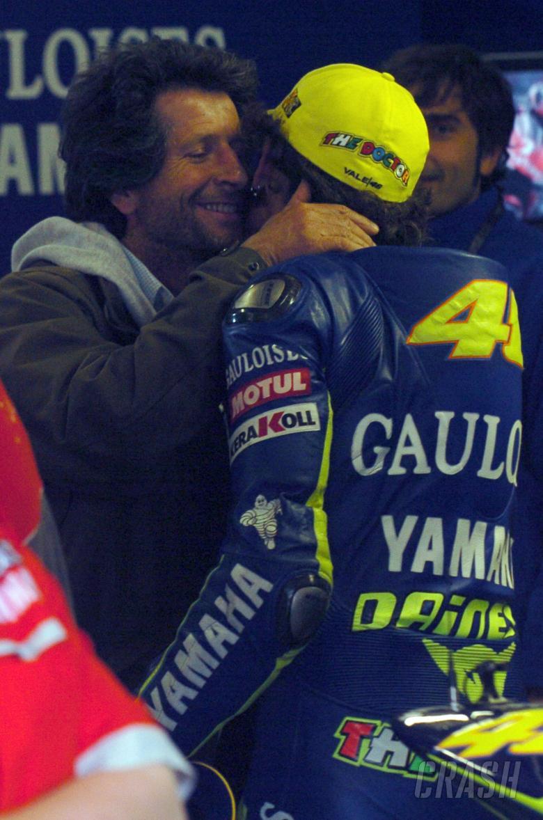 Graziano and Valentino Rossi, Dutch MotoGP, 2004