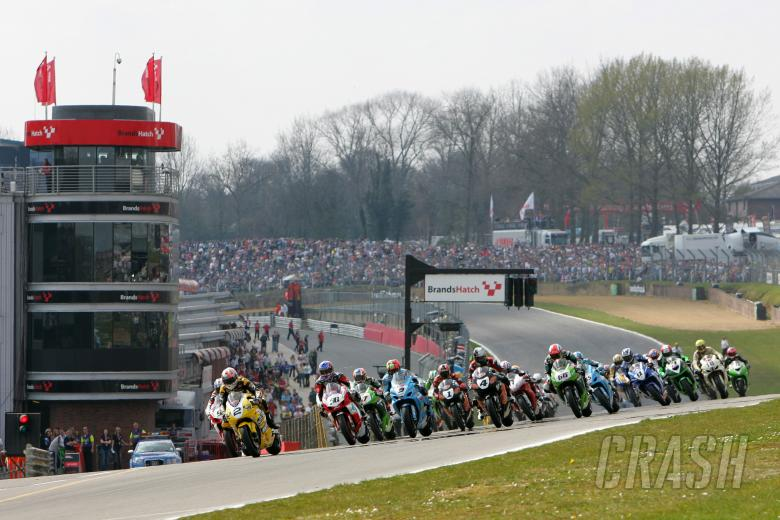 2007 British Superbike Championship, Round One, Bands Hatch, UK, 9th April 2007; Race 1 Start Shot