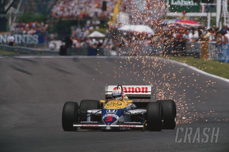 : 1986 Formula One World Championship.Nigel Mansell (GB), Canon Williams Honda FW11.Canadian Grand Pri