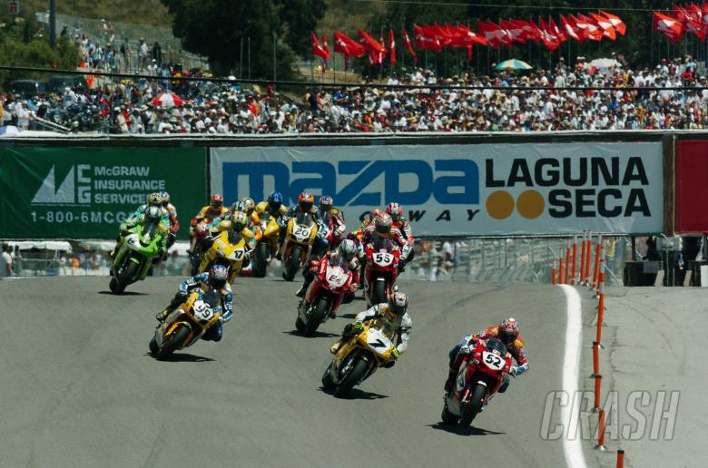 , Start, WSBK Race 1 Laguna Seca, 2004