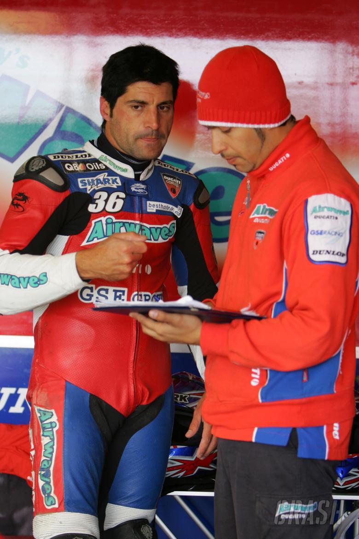 Gregorio Lavilla (ESP), Airwaves Ducati, 999F07, 36, Superbike