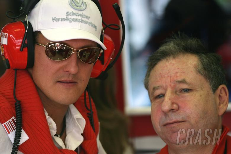 Michael Schumacher (GER), Jean Todt (FRA) Ferrari Sporting Director, France F1, Magny Cours, 29th Ju