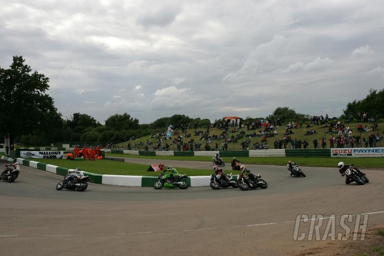 2007 British Superbike Championship, Round 9, Mallory Park, UK, 22nd July 2007; KTM Race Start