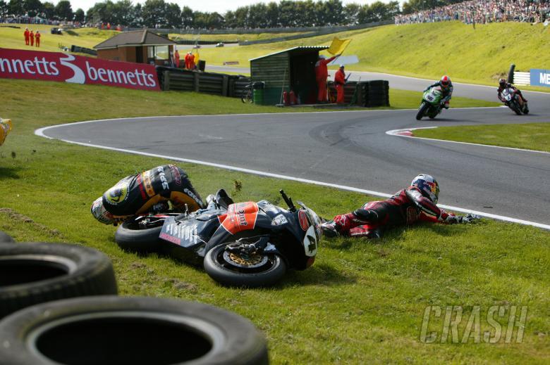 ,  - Jonathan Rea (GBR), HM Plant Honda, CBR1000RR, 4, Superbike; Crashes with Leon Camier; Bikeanimal.co