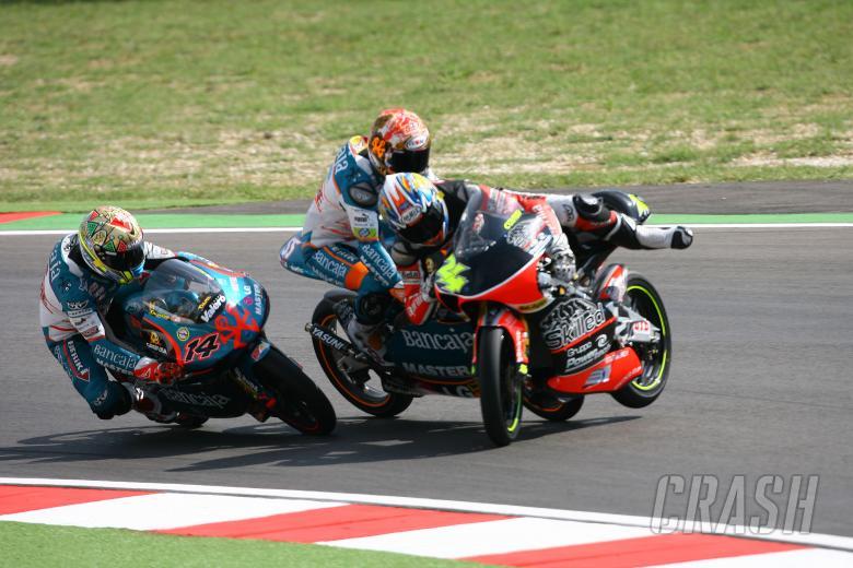 , , Faubel and Corsi crash,  San Marino 125GP 2007
