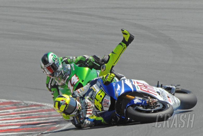 Rossi crash, German MotoGP 2007