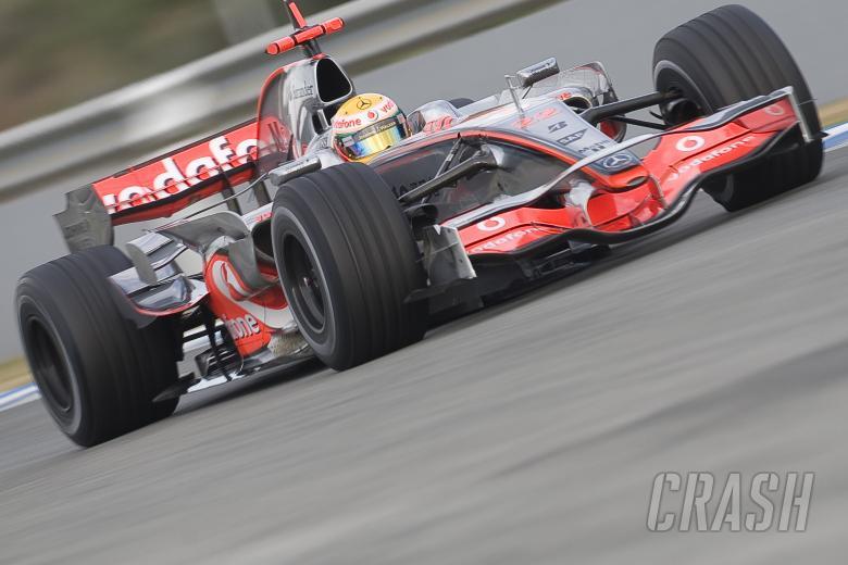 Lewis Hamilton (GBR), McLaren MP4-23, F1 Testing, Jerez (ESP), January 16th 2008